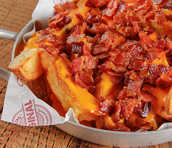 Batata Rústica c/ Cheddar e Bacon